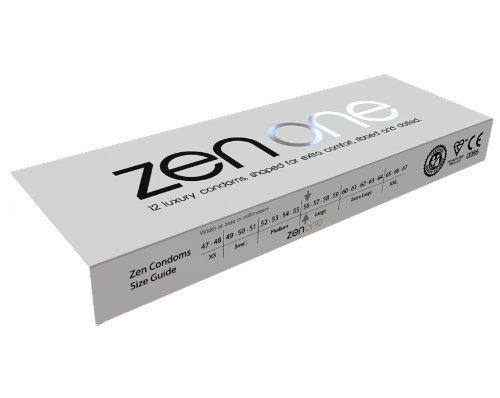 Zen One Kondome (Packung mit 5 Stück) - 60 Luxus-Rippen- und gepunktete mit extra Schmierung (Ähnlich wie Durex Pleasuremax und Ritex