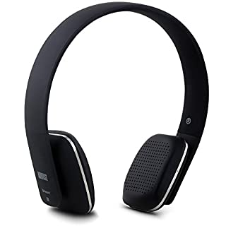 August EP636 Bluetooth Headphones - Black - On Ear Wireless Headset with Mic & Bluetooth V4.1