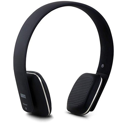 August EP636 - Bluetooth v4.0 NFC Kopfhörer - mit Freisprechfunktion und integriertem Akku (schwarz)