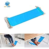Portable Adjustable Mini Office Foot Rest Stand Desk Foot Hammock Sky Blue