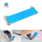 #9: Portable Adjustable Mini Office Foot Rest Stand Desk Foot Hammock Sky Blue