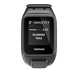 TomTom Spark Cardio Plus Music 1RFM.003.01 GPS Fitness Watch, Large (Black)