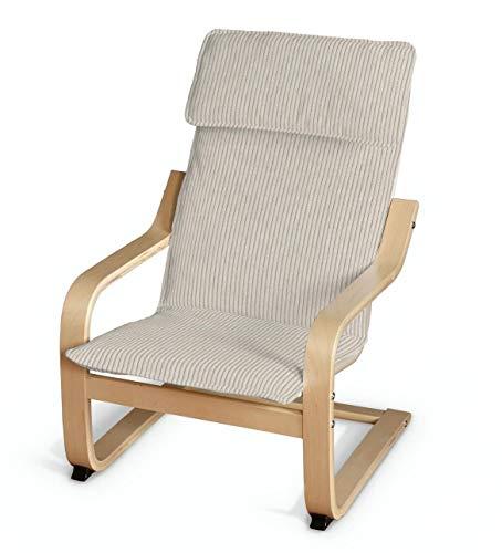 Dekoria Poäng Kissen für den Kindersessel Sesselhusse passend für IKEA Modell Klappsta Creme-beige