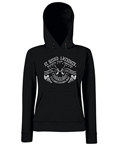 T-Shirtshock - Sweats a capuche Femme TM0644 the second amendment protects your liberties Noir