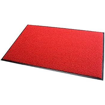 rouge Relaxdays 10021913  Paillasson Welcome PVC tapis d/'entr/ée couloir Bienvenue porte entr/ée 40 x 60 cm