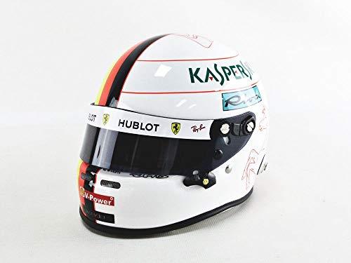 Mini Helmet 4100011 - Coche en Miniatura, Color Blanco, Rojo y Amarillo