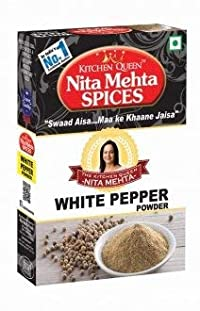 Kitchen Queen Nita Mehta White Pepper Powder 50 gm Pack of 2