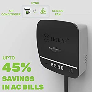 ENERLYF ABS Home Automation Electricity Saver for Air Conditioner, Black