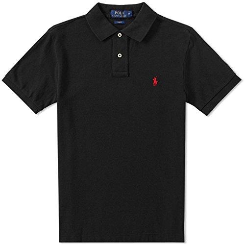 Polo Ralph Lauren Herren Classic Fit, Poloshirts, Schwarz Large