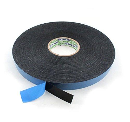 BONUS Eurotech 2BF42.61.0019/010A# Doppelseitiges Schaumstoffklebeband, Acrylklebstoff, Geschlossenzelliger Polyethylen, Länge 10 m x Breite 19 mm x Gesamtdicke 0,8 mm, Schwarz -
