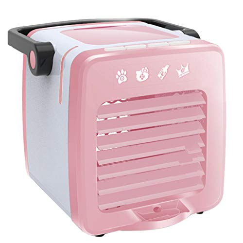 Cwemimifa Mini Air Luftkühler Neu 2019 USB Mobile Klimageräte Kalte Klimaanlage Kompakter Und Tragbarer,USB-Lade tragbare Multifunktions-Klimaanlage Fan Home Kühlschrank Coole,Rosa