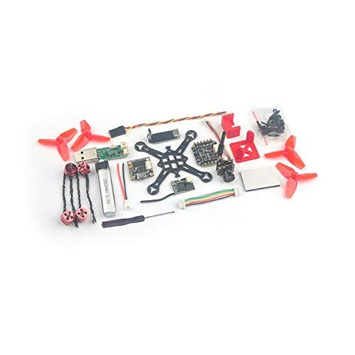 Comomingo Happymodel Trainer66 Mini 66mm FPV RC Racing Drohne Quadcopter PNP Version (Rot)
