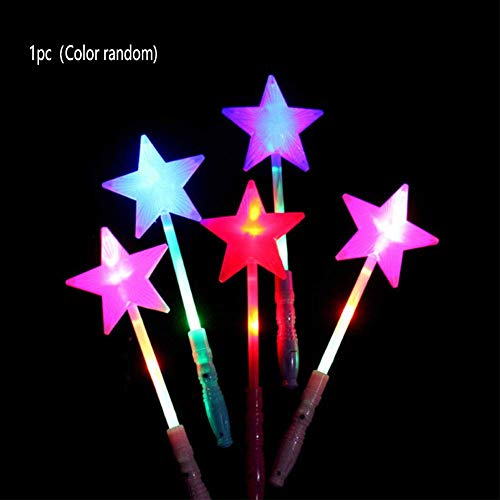 nakw88 Leuchtstäbe Magic Leuchtend Spielzeug Stern Fee Zauberstäbe Party LED Kunststoff Hollow Concert Fluoreszierend BAR - Wie Abgebildet Show, 1pcs