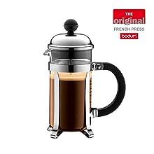 Bodum Chambord Coffee Maker, 3 tazze, 0.35L, Shiny