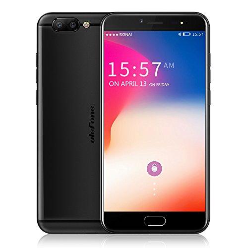 Ulefone Gemini Pro 4G Phablet 5.5 pollici Android 7.1 MTK6797 Deca Core 2.6GHz 4GB RAM 64GB ROM Fotocamera a doppia posteriore da 13.0MP scanner di impronte digitali (Nero)