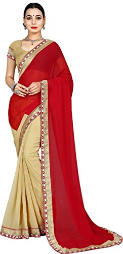 Sarees(Dhrey Fashion Sarees Saree For Women Party Wear Half Sarees Offer Designer Below 500 Rupees Latest Design Under 300 Combo Art Silk New Collection 2017 In Latest With Designer Blouse Beautiful For Women Party Wear Sadi Offer Sarees Collection Kanchipuram Bollywood Bhagalpuri Embroidered Free Size Georgette Sari Mirror Work Marriage Wear Replica Saree  available at amazon for Rs.399