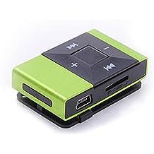 LANDFOX Mini clip USB de la tarjeta del SD TF reproductor de música en formato MP3 de la ayuda 8GB(Verde)