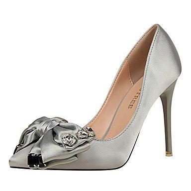 Moda Donna Sandali Sexy donna tacchi tacchi caduta / Punta / punta chiusa abito in seta Stiletto Heel Bowknot più colori disponibili. gray