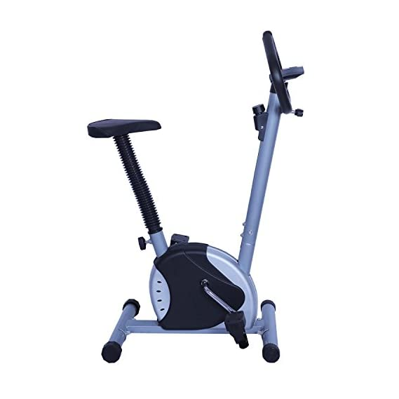 Onlineworld Pedal Perfect Home Fitness Exercise Bike/Cycle for Weight Loss for Men and Women (Silver & Black)