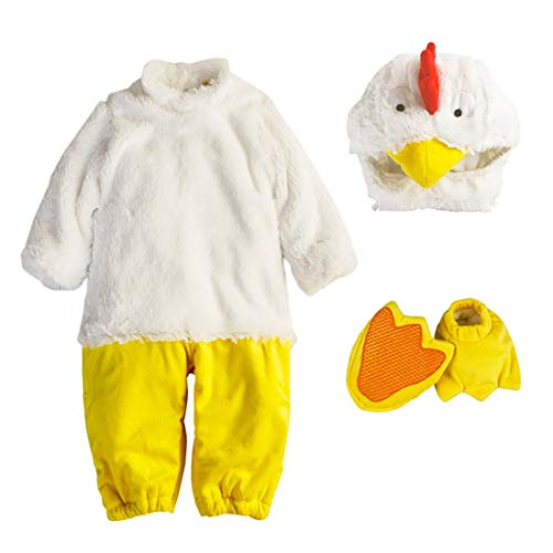 Babys Hühner Kostüm - NormCorer - Cute Kleinkinder Baby Kostüm - Halloween Kleinkind Faux Tier verkleiden Sich mit Hut und Schuhe für Cosplay (6-12 Monate, Huhn)
