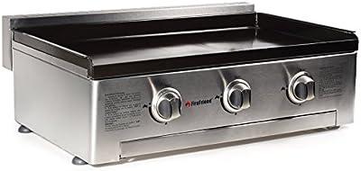 Tristar BQ-6395 - Barbacoa de gas con 3 quemadores, 78 x 56.5 x 28 cm, color negro y gris