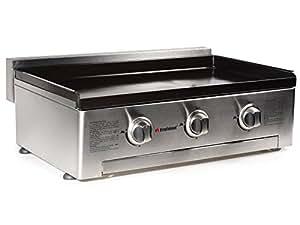 Plancha à gaz FireFriend BQ-6395 – 3 brûleurs – Plaque de cuisson en fonte émaillée