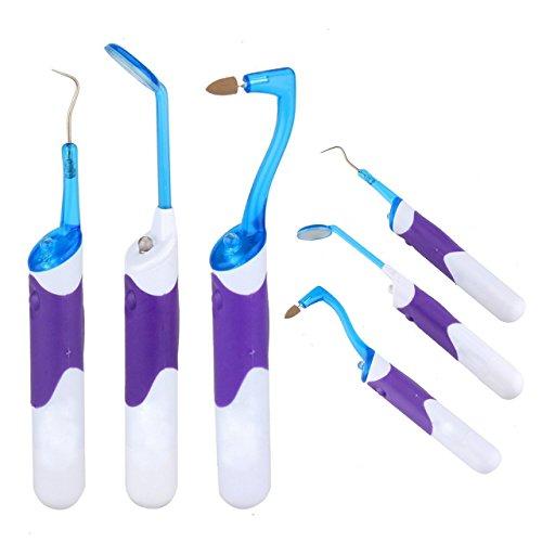 Itian Personale Cure odontoiatriche Family Set Igiene orale LED Professionale Strumento Kit di pulizia, Specchio dentale + Targa Remover + Dente macchia Eraser