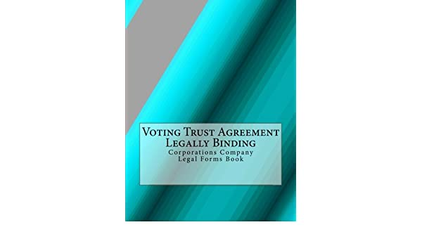 Buy Voting Trust Agreement Legally Binding Corporations Company