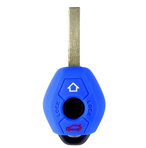 Brightparts® Blau Silikon Schlüsseletui Hülle Etui Schlüssel Cover für BMW Schlüssel