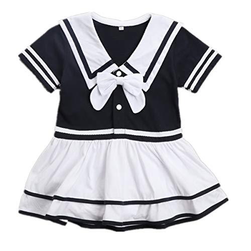 Lee Little Angel Girl Navy Rock Short Sleeve Baby Einteiliges Kleid (3-6 Monate, HD01) (Little Angel Kostüm)