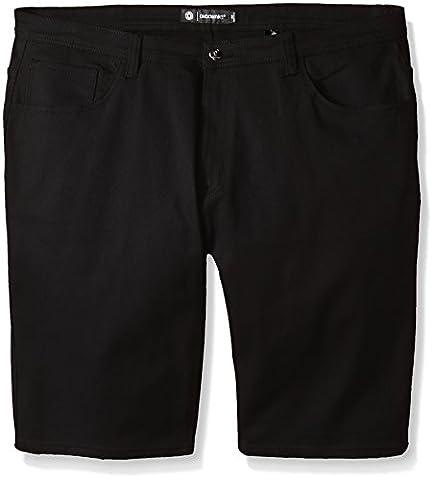 Akademiks Men's Big-Tall Big and Tall Shady Stretch Shorts, Black, 54