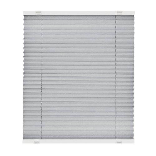 VICTORIA M Store plissé à clipser - Montage «EasyFix» sans percer- Store plissé facile à poser sans perçage, taille: 45 x 100 cm, couleur: gris