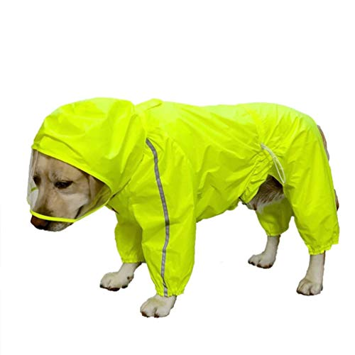 XDYFF Hund Regenmantel Schneejacke Poncho Regensjacke Warm Hundewelpen wasserdichter Mantel Hund,Green,11