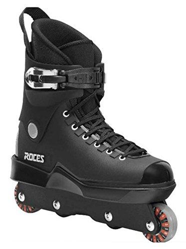 Skate-roller Aggressive (Roces Herren M12UFS Aggressive Street Italienisches Inline Skates Schwarz 10118300001, schwarz)
