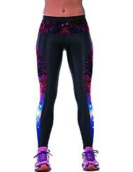 Ninimour Mujer Pantalones elásticos 3D Digital Print Tight Stretchy Sports Pants Leggings