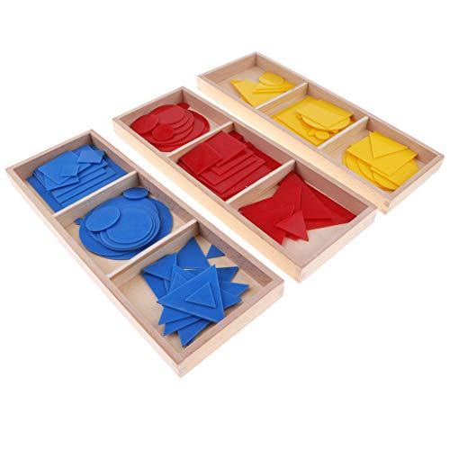 Homyl Juguete Montessori de Tarjetas Geométricas Juego de Cognición de Color y Forma para Niños