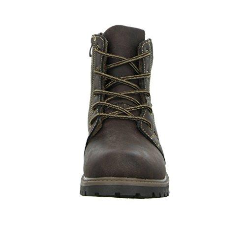 Sneakers 1191-90 Jungen Schnürstiefelette Warmfutter Braun (Braun)