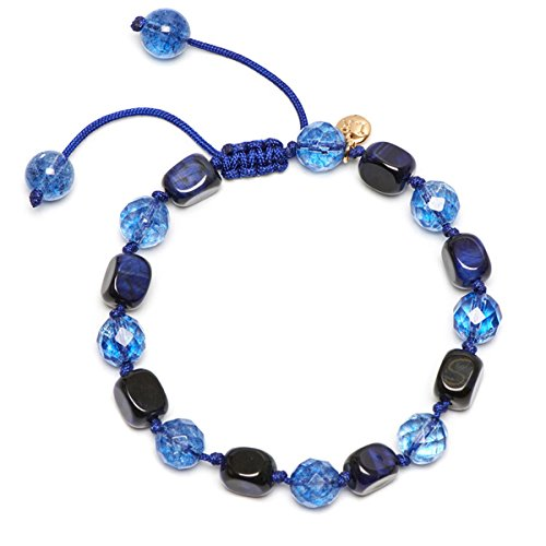 (Lola Rose Armband Orlando Navy Blau Tiger Eye)