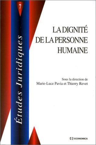 La dignité de la personne humaine