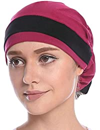 Cathy 02mars Hall da donna elegante morbido Chemo Turbante Berretto testa  panno per chemioterapia 6c2b1254feb7