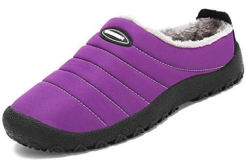 Zapatillas de Estar por Casa Mujer Hombre, Invierno Zapatos de Casa con Forro de Piel - Cálidas y Cómodas...