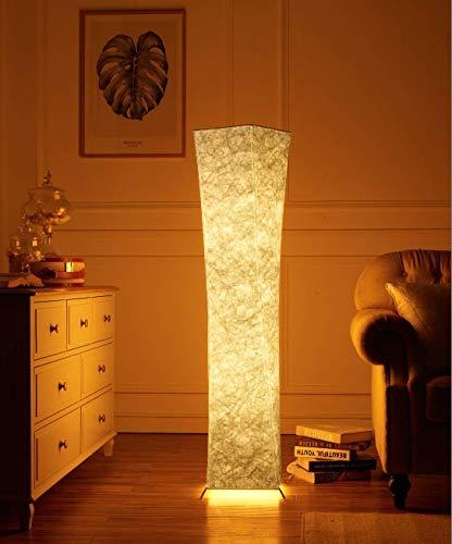 Moderne Stehlampe mit Stoff-Shades, Fy-Licht 52-Zoll-zeitgenössischen Design Standing LED Stehlampe für Wohnzimmer, Schlafzimmer, Haus, Büro (UK Stecker)