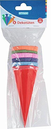 cm - rund - Geschenktüte klein Dekoration Zuckertüte Deko für Schulanfang Dekotüten 12cm ()