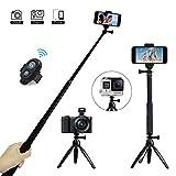Palo Selfie, JPARR Bluetooth Selfie Stick Trípode con Control Remoto 3 en 1 Monopod Soporte móvil 360° Rotacion para Cámaras / Gopro / iPhone / Samsung / Huawei y Otros Smartphone