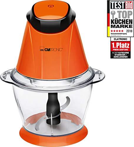 Clatronic MZ 3579 Picadora multiusos, función pica-hielo, 250 W, 1 Liter, Naranja
