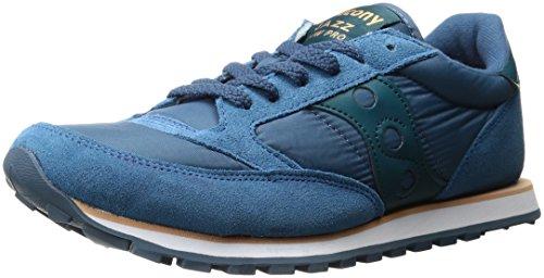 Saucony Herrenschuhe Herren Wildleder Sneakers Schuhe jazz low pro blu, Blue, 42.5 EU -