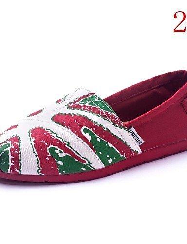 ShangYi gyht Scarpe Donna - Mocassini - Tempo libero / Casual - Comoda - Piatto - Di corda - Multicolore 7#