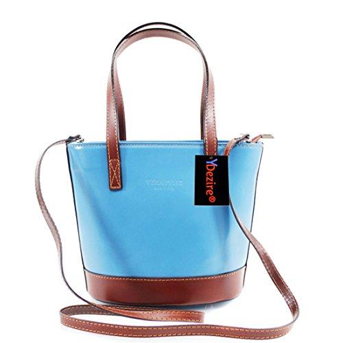 HB Style, Borsa a mano donna Multicolore Beige Blue-Brown
