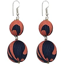 I was a Sari Beads Collection Blue & Peach Bead Earring for Women