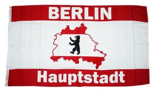 Sturmflaggen® Flagge Fahne Berlin Hauptstadt Karte 90 x 150 cm -
